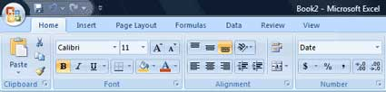 Excel Home Ribbon